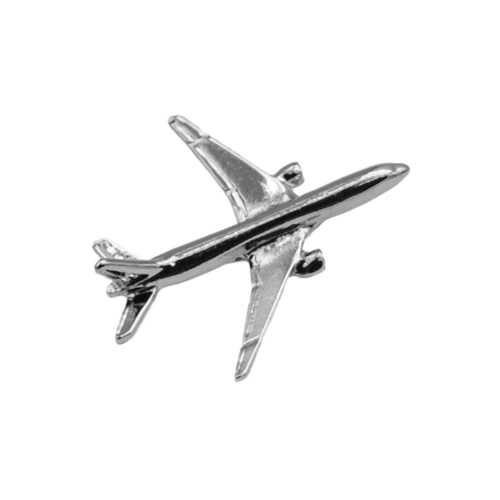 BOEING 777 PIN DELL'AEROPLANO IN ARGENTO