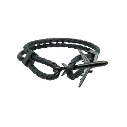 #GO-AROUND BRACCIALE IN PELLE NERA