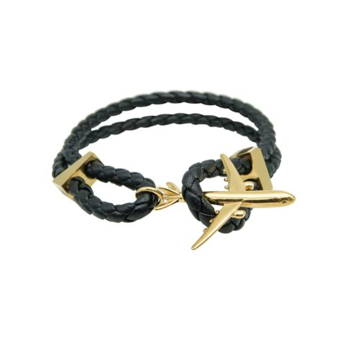 #GO-AROUND BRACCIALE IN PELLE ORO