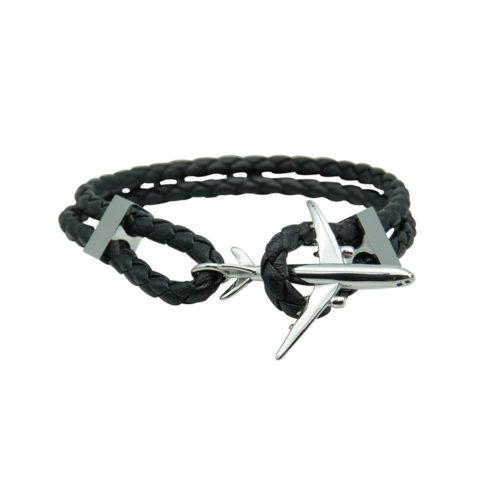 #GO-AROUND BRACCIALE IN PELLE ARGENTO